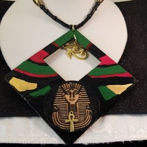 Jewelry - Unique King Tut with top Eye of Ea necklace